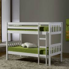 Bedroom  Mini White Bunk Bed With Steps And Wall Shelves For - Mini bunk beds