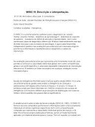 wisc iv descrição e interpretação doc