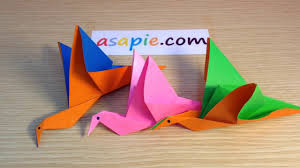origami bird instructions how to make origami flapping bird on vimeo