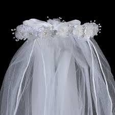 holy communion veils organza floral crown holy communion veil s
