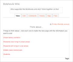 wiki activity moodledocs