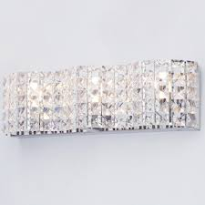 Crystal Bathroom Light Fixtures by Marquis By Waterford Moy Led 3 Light Bathroom Wall Light