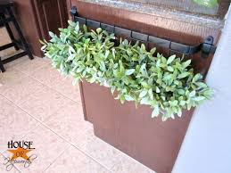 Rail Hanging Planters by Kitchen Rail Turned Hanging Planter
