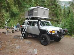 fj cruiser james baroud usa rooftop tent living combo