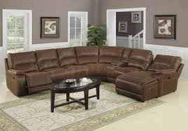 Brown Leather Sectional Sofas by Huge Brown Leather Sectional Sofa With Chaise Lounge And Recliners
