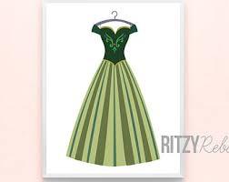 frozen elsa dress etsy