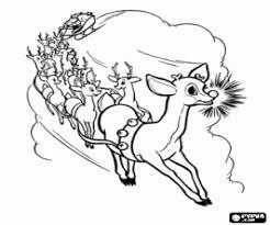 santa claus u0027s reindeers coloring pages printable games 2