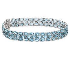 blue topaz bracelet images Trio oval blue topaz bracelet in sterling silver 5x3mm blue nile