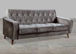 Vintage Curved Sofa by Furniture Best Quality Grey Velvet Sofa For Your Living Room