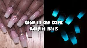 night light nail salon glow in the dark acrylic nails french ombre baby boomer nails