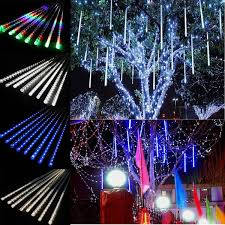 outdoor string lights rain 20cm 30cm 144 led light meteor shower falling rain drop snow fall
