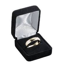wedding ring in a box designer platinum wedding ring 2 grooves satin finish