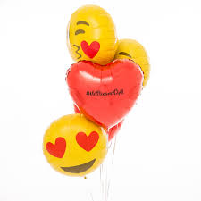 champagne emoticon inflated personalised emoji loved up balloons by bubblegum