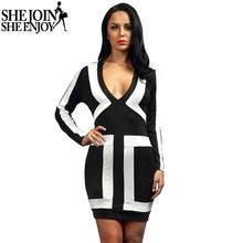 online get cheap v color block dress aliexpress com alibaba group
