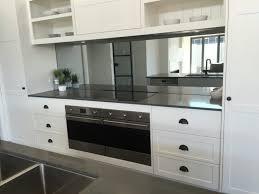 mirror backsplash in kitchen kitchen white kitchen smoke grey mirror splashback by verity