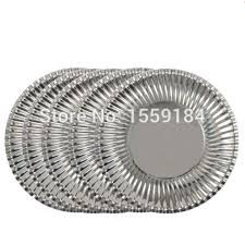 paper plates free shipping 100pcs metallic silver paper plates 23cm bbq event