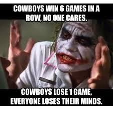 Cowboys Win Meme - 22 meme internet cowboys win 6 games in a row no one cares