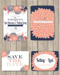 coral wedding invitations coral and navy wedding invitations reduxsquad