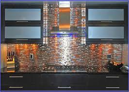 Mixed Metal Tile Backsplash - Metal tiles backsplash