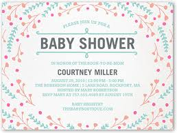 baby registry cards floral swirl 4x5 flat baby shower invitations shutterfly