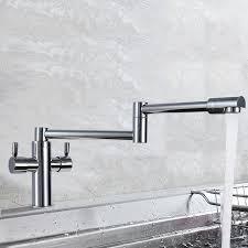 pot filler kitchen faucet tallulah dual handle pot filler kitchen faucet with 360 degree