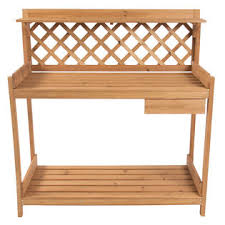 Outdoor Potters Bench Bestchoiceproducts Sky1172 Potting Bench Outdoor Garden Work Bench