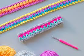 crocheted headbands headbands using tulip stitch