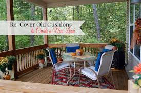 Recover Patio Chairs by How To Recover Porch Cushions For A New Look Youtube