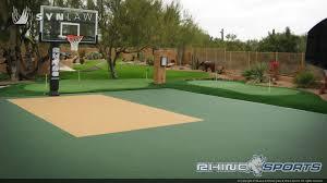 back yard mini basketball court work done by enterprises image