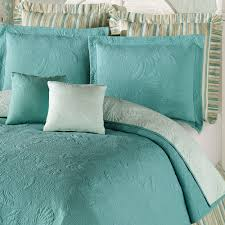Ocean Bedspread Reversible Shell Quilted Matelasse Coverlets