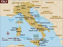 Map Of Northern France the geography of italy map and geographical facts