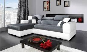 canapé microfibre gris microfibre gris et blanc tout autour du canapé