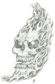 a lot can be done to the flaming skull designs the