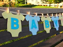 baby shower decorations for boys onesie baby boy baby shower banner yellow and blue baby shower