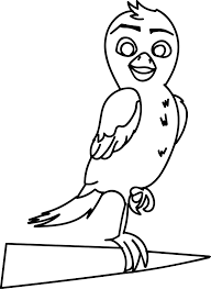 richard the stork bird coloring page wecoloringpage