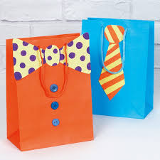 present bags funky tie gift bags free craft ideas baker ross
