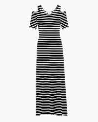 cold shoulder striped maxi dress chicos