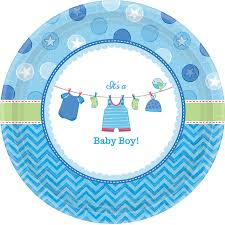 baby plates baby shower boy shower with dessert plates 8