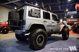 jeep rhino 2017 sema rhino rack ironman jeep jk wrangler unlimited