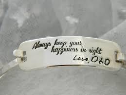 custom silver bracelets custom in memory of sterling silver bracelet by sparkles