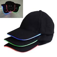 new shiny lighting hat led lighted glow club sports led