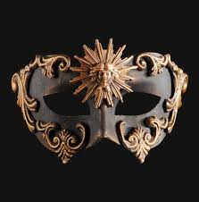 masquerade masks colombina barocco sole bronze masquerade mask vivo masks