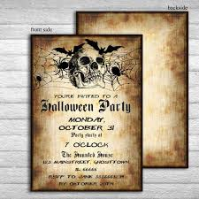 halloween invitation invitations printable