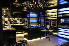 excellent black kitchen decor with luxurious and gothic chandelier