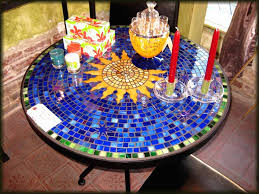 How To Make A Mosaic Table Top Design For Mosaic Patio Table Ideas Ebizby Design
