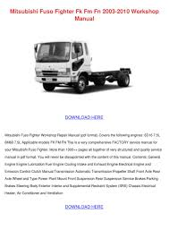 mitsubishi fuso fighter fk fm fn 2003 2010 wo by asia hafter issuu
