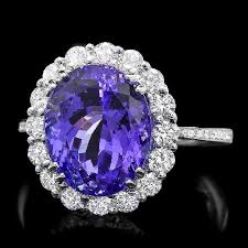 tanzanite engagement ring tanzanite engagement rings with diamonds in accent gemstone rings