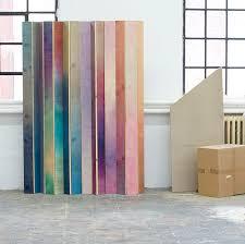 Diy Room Divider Screen Diy Room Screen Of Colored Slats Improvised