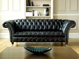 Black Leather Chesterfield Sofa Living Room And Furniture Designing With Chesterfield Sofa And