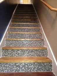 stairs idea really like this look it would tie in our tile from